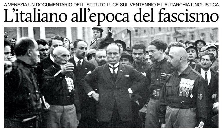 Dal regno d'Italia al Fascismo