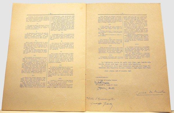 La Costituzione della Repubblica Italiana, la più bella del mondo