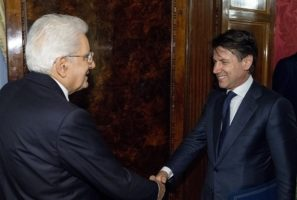 Il Presidente della Repubblica Sergio Mattarella con il Prof. Giuseppe Conte