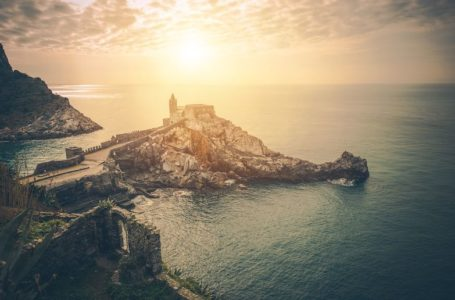 Roman Catholic Church of St. Peter in Lazzaro Spallanzani, Portovenere, Italy. Province of La Spezia.